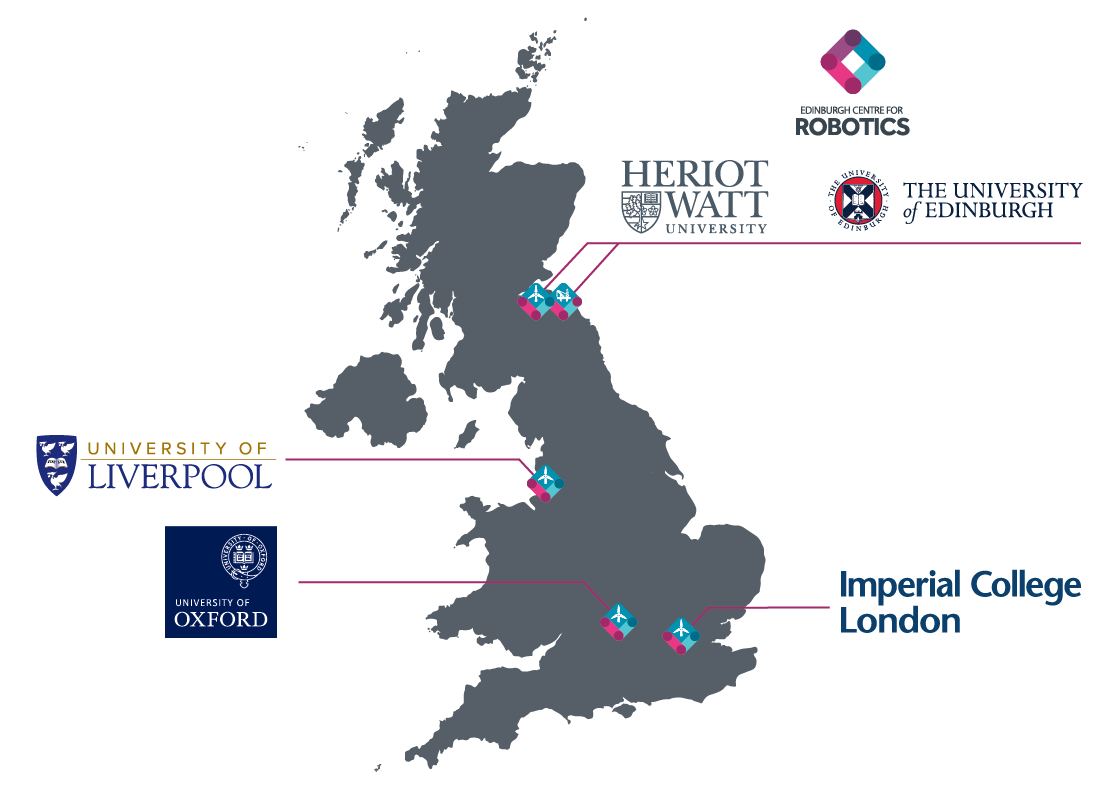 Map of ORCA partner institutions