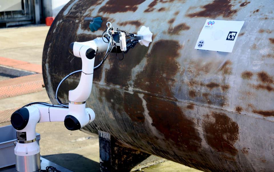 Robotic arm placing a Limpet
